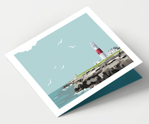 Portland Bill Lighthouse Dorset Card