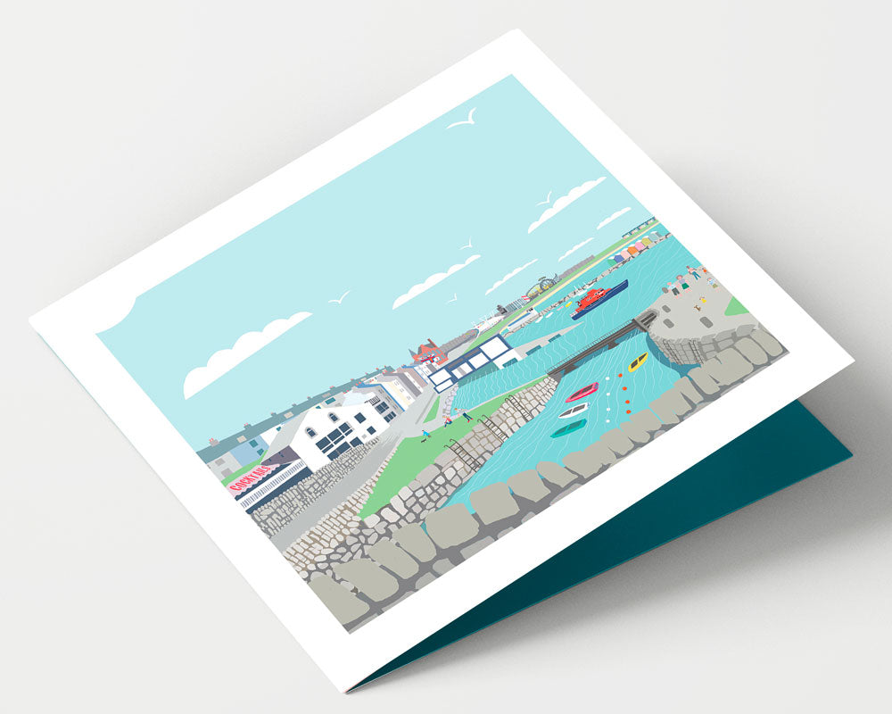 Portrush harbour Northen Ireland Card