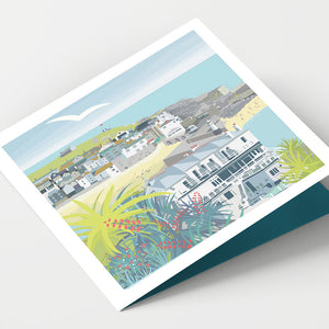 St Ives and Palms Cornwall Card