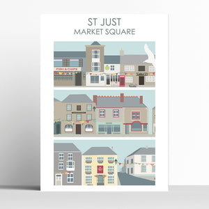St Just Market Square Cornwall