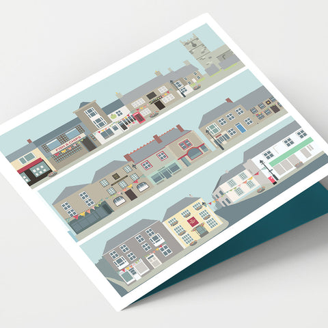 St Just Market Square Cornwall Card