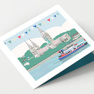 Truro and Boat Cornwall Card