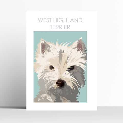 West Highland terrier Print