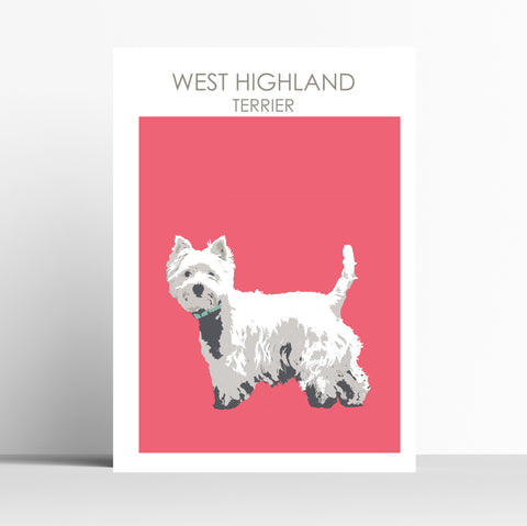 West Highland Terrier standing Print