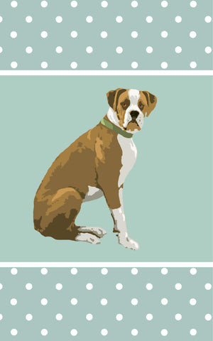 Boxer Dog Tea Towel