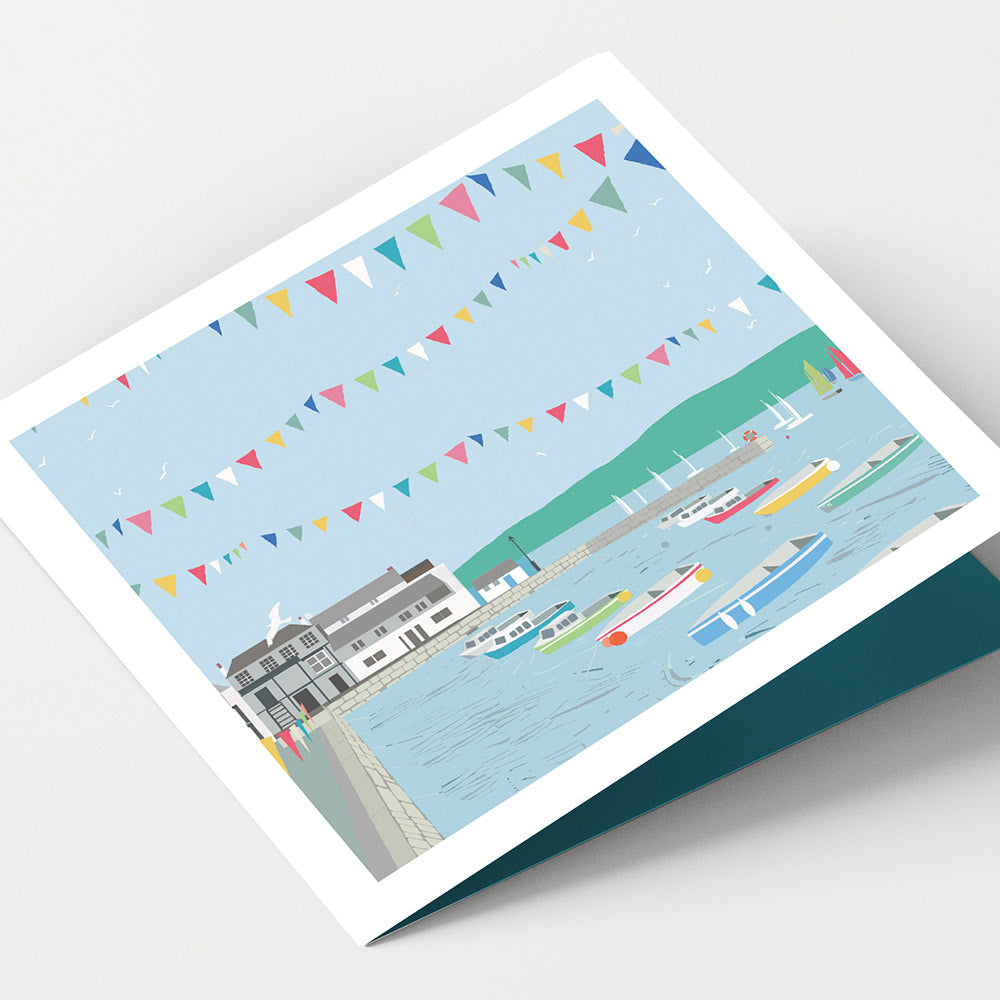 Falmouth Custom House Quay Cornwall Card
