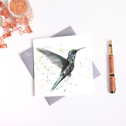 Hummingbird Watercolour by Meg Hawkins