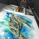 SEA TURTLE Watercolour