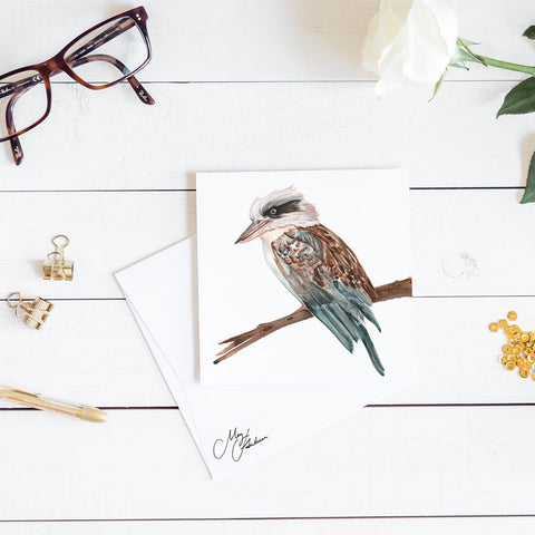 KOOKABURRA WATERCOLOUR PRINT BY MEG HAWKINS