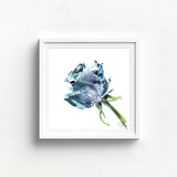 BLUE ROSE watercolour