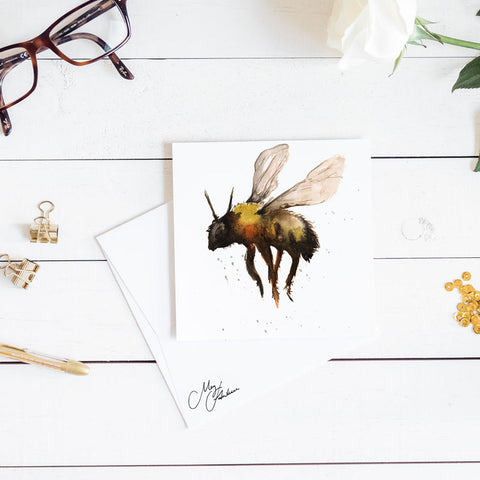 BUMBLE BEE WATERCOLOUR BY MEG HAWKINS