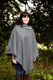 'BELLA' CAPE - Meg Hawkins Design, tweed lambs wool cape.
