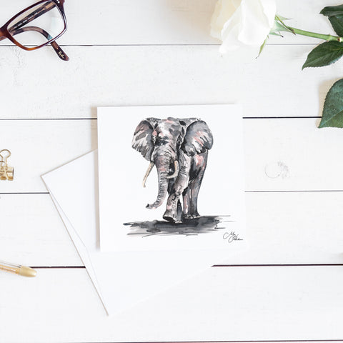ELEPHANT WATERCOLOUR BY MEG HAWKINS