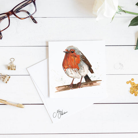 ROBIN WATERCOLOUR PRINT BY MEG HAWKINS