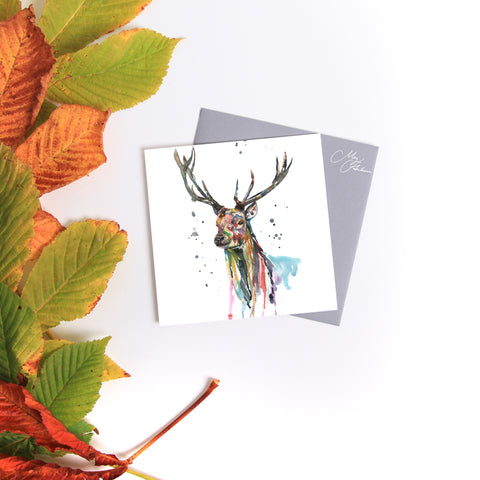 STAG WATERCOLOUR BY MEG HAWKINS
