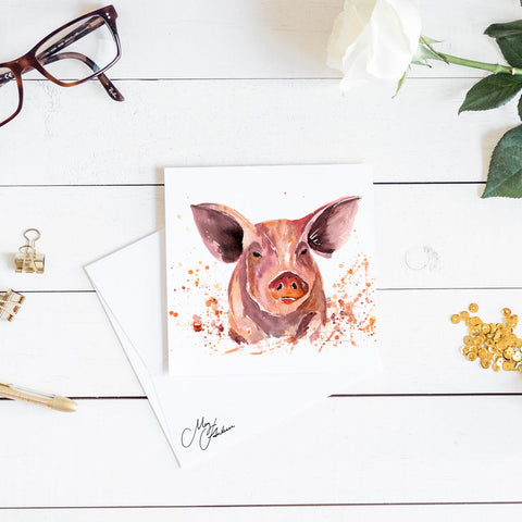 PIG WATERCOLOUR BY MEG HAWKINS
