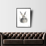 HARE 2 INDIAN INK PRINT