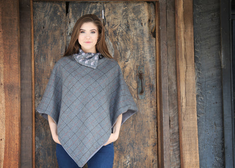 BABY 'BELLA' CAPE - Meg Hawkins Design, tweed lambs wool cape.