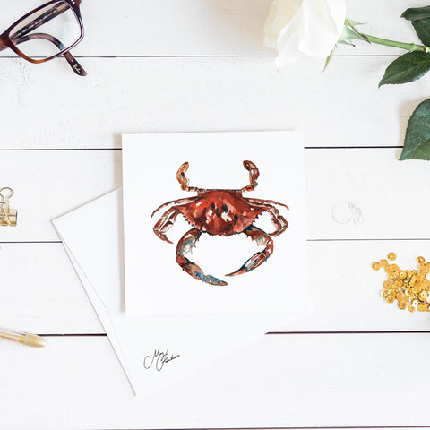 crab watercolour by meg hawkins