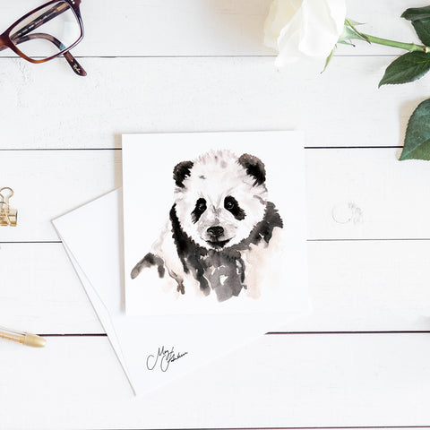 PANDA WATERCOLOUR BY MEG HAWKINS