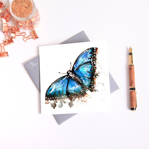 Butterfly watercolour by Meg Hawkins