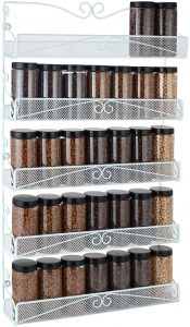 White Wall-Mounted Spice Rack