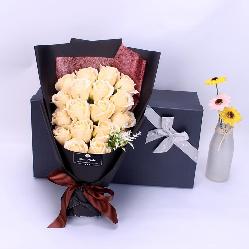 💝Mother's Day Promotion 50% OFF💝 Soap Flowers Rose Bouquet Gift Box ( New packaging)