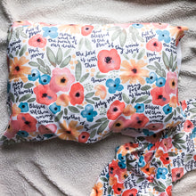 Load image into Gallery viewer, Floral Watercolor Hail Mary Prayer Pillowcase
