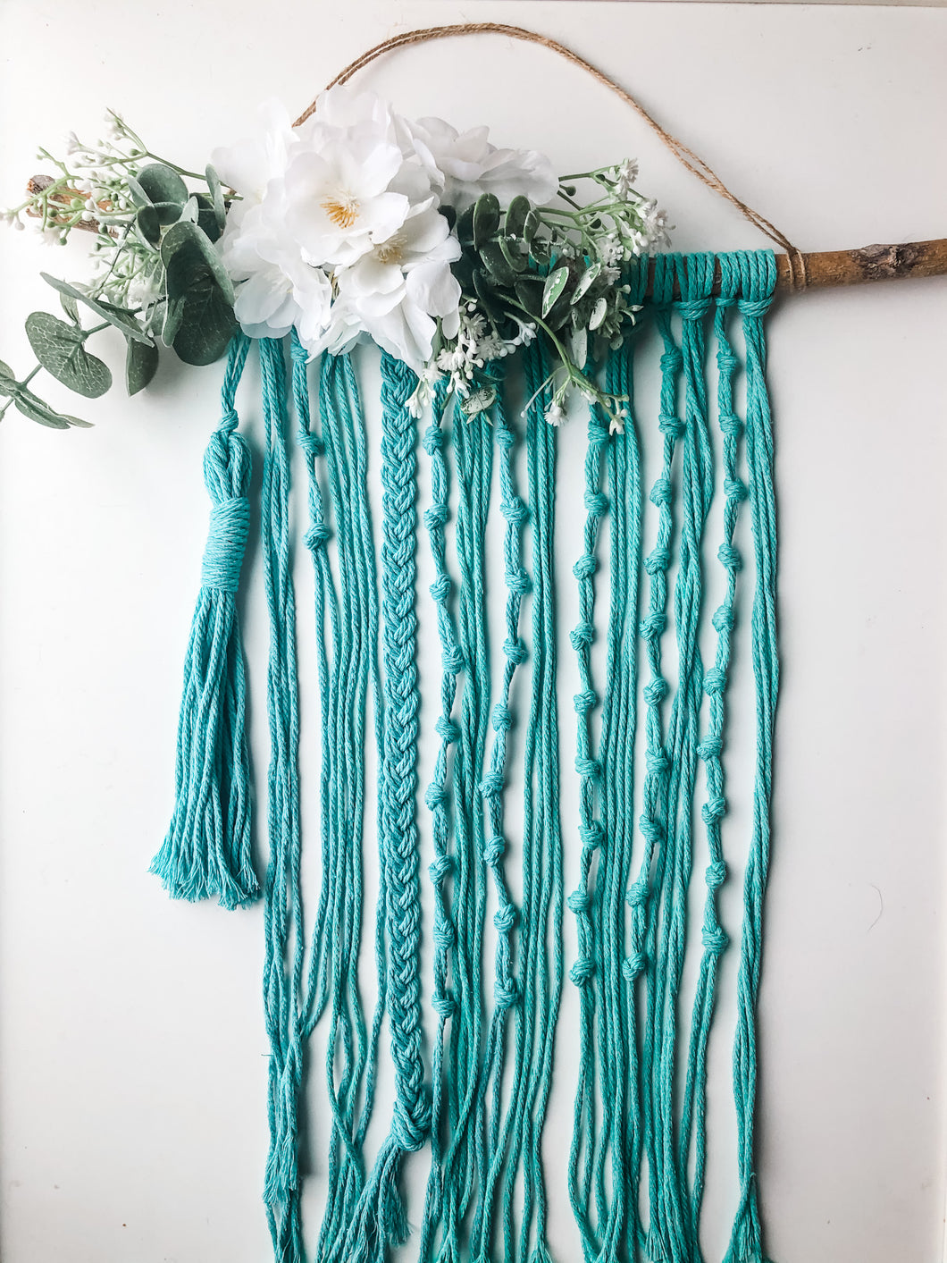 Special Edition, Teal Macrame Wall Rosary