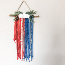 Load image into Gallery viewer, Divine Mercy Inspired Macrame Wall Chaplet