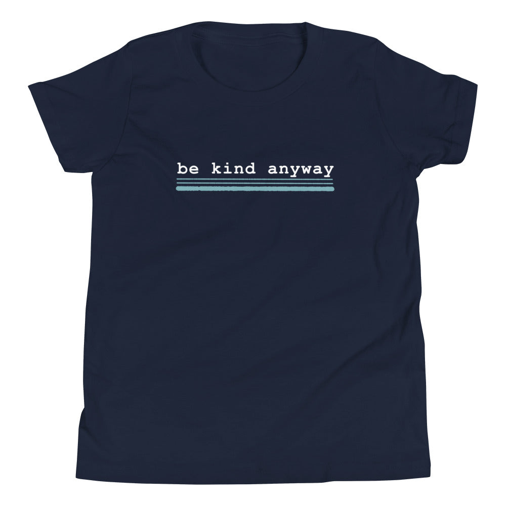Be Kind Anyway, Mother Teresa Inspired Youth Short Sleeve T-Shirt