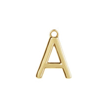 Load image into Gallery viewer, A Initial Pendant Necklace Gold, Monogram, Personalized, Fine Jewelry