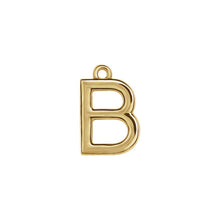 Load image into Gallery viewer, B Initial Pendant Necklace Gold, Monogram, Personalized, Fine Jewelry