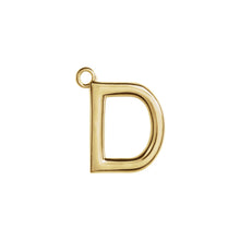 Load image into Gallery viewer, D Initial Pendant Necklace Gold, Monogram, Personalized, Fine Jewelry