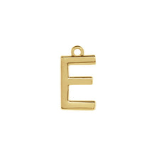 Load image into Gallery viewer, E Initial Pendant Necklace Gold, Monogram, Personalized, Fine Jewelry