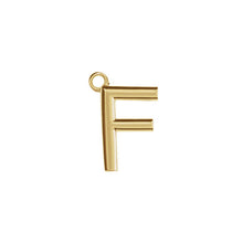 Load image into Gallery viewer, F Initial Pendant Necklace Gold, Monogram, Personalized, Fine Jewelry
