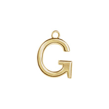 Load image into Gallery viewer, G Initial Pendant Necklace Gold, Monogram, Personalized, Fine Jewelry