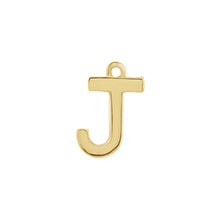 Load image into Gallery viewer, J Initial Pendant Necklace Gold, Monogram, Personalized, Fine Jewelry