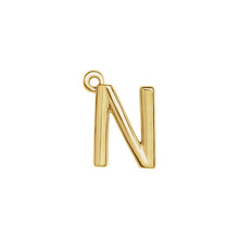 Load image into Gallery viewer, N Initial Pendant Necklace Gold, Monogram, Personalized, Fine Jewelry