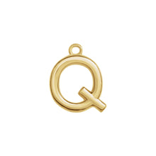 Load image into Gallery viewer, Q Initial Pendant Necklace Gold, Monogram, Personalized, Fine Jewelry