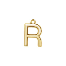 Load image into Gallery viewer, R Initial Pendant Necklace Gold, Monogram, Personalized, Fine Jewelry