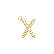 Load image into Gallery viewer, X Initial Pendant Necklace Gold, Monogram, Personalized, Fine Jewelry