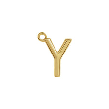 Load image into Gallery viewer, Y Initial Pendant Necklace Gold, Monogram, Personalized, Fine Jewelry