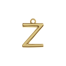 Load image into Gallery viewer, Z Initial Pendant Necklace Gold, Monogram, Personalized, Fine Jewelry