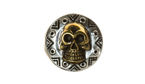 Aztec Hollow Skull Ring