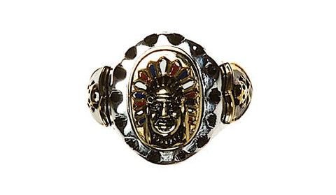 Tooled Indian Skull Ring