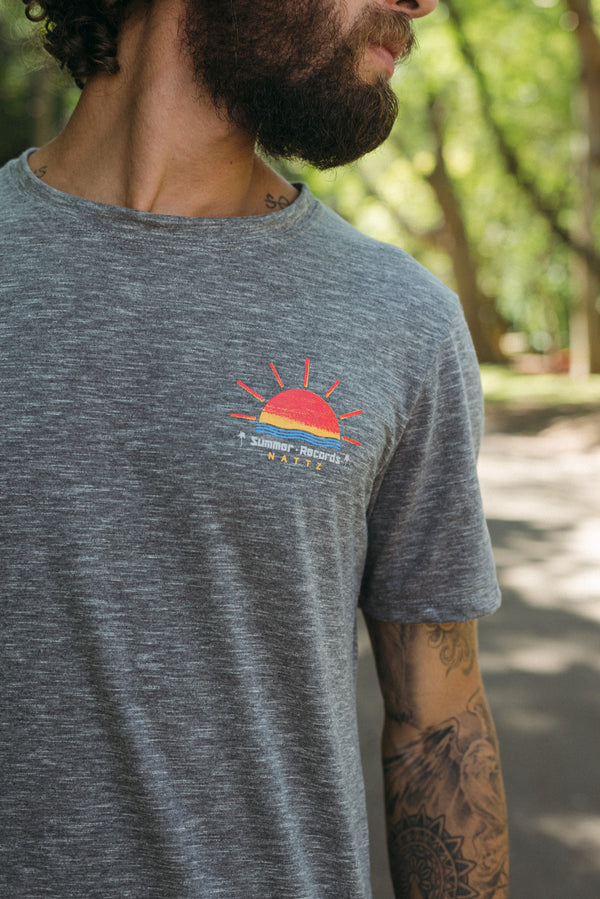 Camiseta Longline Summer Records Sun