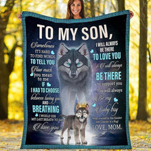 Load image into Gallery viewer, WOLF MOM LOVE FLEECE BLANKET