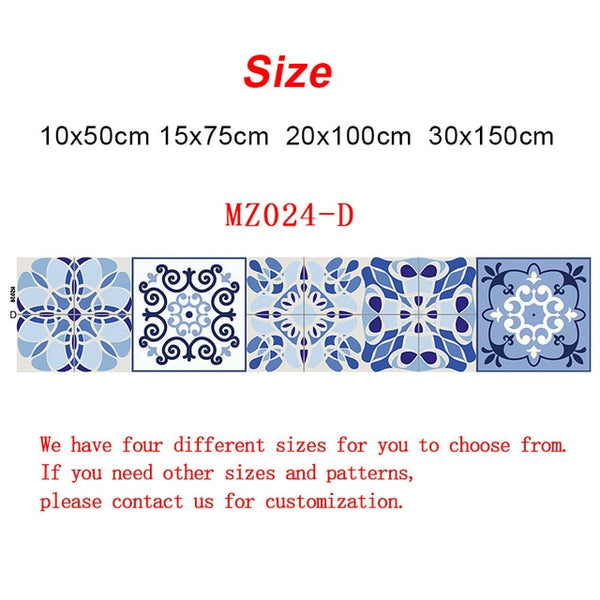 10/15/20/30cm Retro Pattern Tile Floor Sticker PVC Bathroom Kitchen Waterproof Wall Stickers Home Decor TV Sofa Wall Art Mural