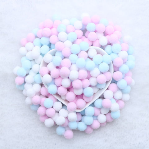 400 Pcs/ Bag Multi Colors 10mm Pompoms Balls for DIY Party Home Garden Wedding Decoration Garment Sewing Kids Toys Accessories